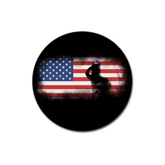 Honor Our Heroes On Memorial Day Magnet 3  (round) by Catifornia