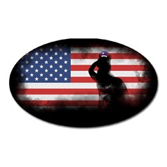 Honor Our Heroes On Memorial Day Oval Magnet by Catifornia