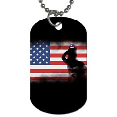 Honor Our Heroes On Memorial Day Dog Tag (one Side) by Catifornia