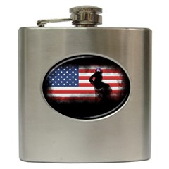 Honor Our Heroes On Memorial Day Hip Flask (6 Oz) by Catifornia