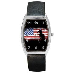 Honor Our Heroes On Memorial Day Barrel Style Metal Watch by Catifornia