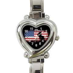 Honor Our Heroes On Memorial Day Heart Italian Charm Watch by Catifornia