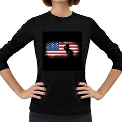 Honor Our Heroes On Memorial Day Women s Long Sleeve Dark T Shirts by Catifornia