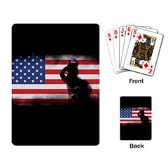 Honor Our Heroes On Memorial Day Playing Card by Catifornia