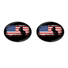 Honor Our Heroes On Memorial Day Cufflinks (oval) by Catifornia