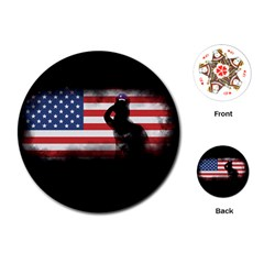 Honor Our Heroes On Memorial Day Playing Cards (round)  by Catifornia