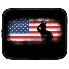 Honor Our Heroes On Memorial Day Netbook Case (large) by Catifornia
