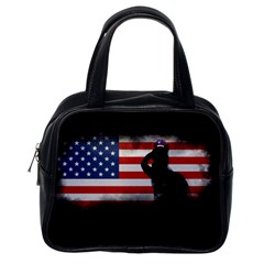 Honor Our Heroes On Memorial Day Classic Handbags (one Side) by Catifornia