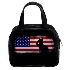 Honor Our Heroes On Memorial Day Classic Handbags (2 Sides) by Catifornia