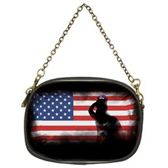 Honor Our Heroes On Memorial Day Chain Purses (one Side)  by Catifornia