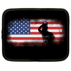 Honor Our Heroes On Memorial Day Netbook Case (xxl)  by Catifornia