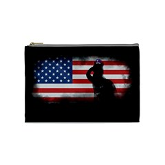 Honor Our Heroes On Memorial Day Cosmetic Bag (medium)  by Catifornia