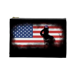 Honor Our Heroes On Memorial Day Cosmetic Bag (large)  by Catifornia