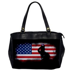 Honor Our Heroes On Memorial Day Office Handbags by Catifornia