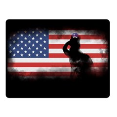 Honor Our Heroes On Memorial Day Fleece Blanket (small) by Catifornia