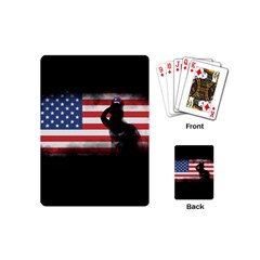 Honor Our Heroes On Memorial Day Playing Cards (mini)  by Catifornia