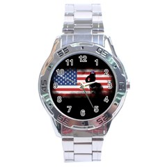 Honor Our Heroes On Memorial Day Stainless Steel Analogue Watch by Catifornia