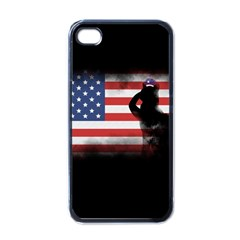 Honor Our Heroes On Memorial Day Apple Iphone 4 Case (black) by Catifornia