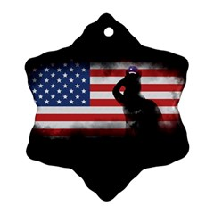 Honor Our Heroes On Memorial Day Ornament (snowflake)