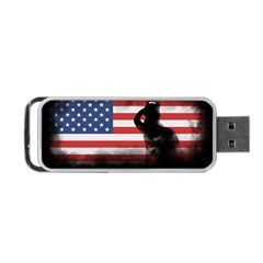 Honor Our Heroes On Memorial Day Portable Usb Flash (two Sides) by Catifornia