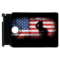 Honor Our Heroes On Memorial Day Apple Ipad 3/4 Flip 360 Case by Catifornia