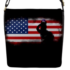 Honor Our Heroes On Memorial Day Flap Messenger Bag (s) by Catifornia