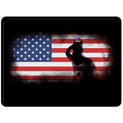 Honor Our Heroes On Memorial Day Double Sided Fleece Blanket (large)  by Catifornia