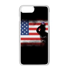 Honor Our Heroes On Memorial Day Apple Iphone 7 Plus White Seamless Case by Catifornia