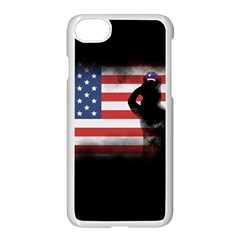 Honor Our Heroes On Memorial Day Apple Iphone 7 Seamless Case (white) by Catifornia