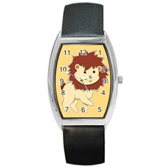 Happy Cartoon Baby Lion Barrel Style Metal Watch by Catifornia