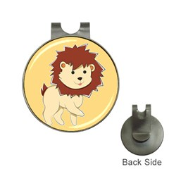Happy Cartoon Baby Lion Hat Clips With Golf Markers by Catifornia