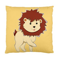 Happy Cartoon Baby Lion Standard Cushion Case (one Side) by Catifornia
