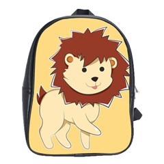Happy Cartoon Baby Lion School Bags(large)  by Catifornia