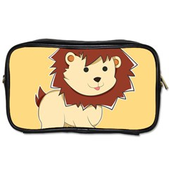 Happy Cartoon Baby Lion Toiletries Bags by Catifornia
