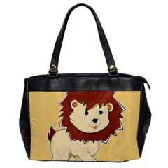 Happy Cartoon Baby Lion Office Handbags by Catifornia