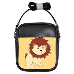 Happy Cartoon Baby Lion Girls Sling Bags by Catifornia