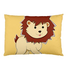 Happy Cartoon Baby Lion Pillow Case (two Sides) by Catifornia