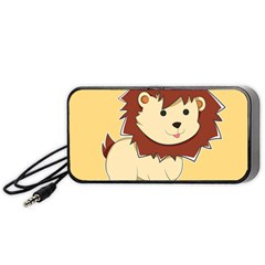 Happy Cartoon Baby Lion Portable Speaker (black) by Catifornia