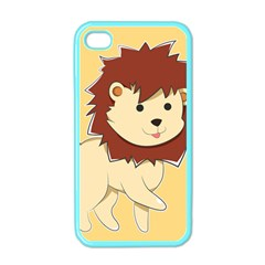 Happy Cartoon Baby Lion Apple Iphone 4 Case (color) by Catifornia