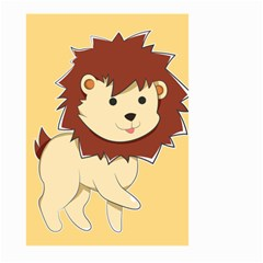 Happy Cartoon Baby Lion Large Garden Flag (two Sides) by Catifornia