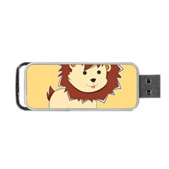 Happy Cartoon Baby Lion Portable Usb Flash (two Sides) by Catifornia