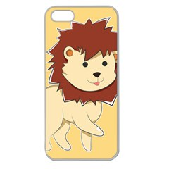 Happy Cartoon Baby Lion Apple Seamless Iphone 5 Case (clear) by Catifornia