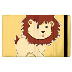 Happy Cartoon Baby Lion Apple Ipad 3/4 Flip Case by Catifornia