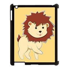 Happy Cartoon Baby Lion Apple Ipad 3/4 Case (black) by Catifornia