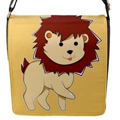 Happy Cartoon Baby Lion Flap Messenger Bag (s) by Catifornia