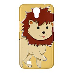 Happy Cartoon Baby Lion Samsung Galaxy Mega 6 3  I9200 Hardshell Case by Catifornia