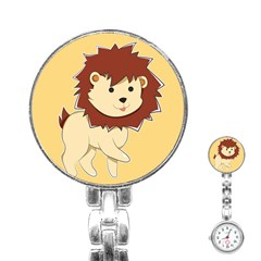 Happy Cartoon Baby Lion Stainless Steel Nurses Watch by Catifornia