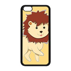 Happy Cartoon Baby Lion Apple Iphone 5c Seamless Case (black) by Catifornia