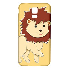 Happy Cartoon Baby Lion Samsung Galaxy S5 Back Case (white) by Catifornia