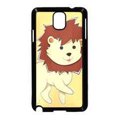 Happy Cartoon Baby Lion Samsung Galaxy Note 3 Neo Hardshell Case (black) by Catifornia